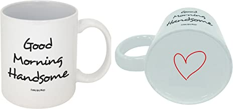 Funny Guy Mugs Good Morning Handsome Ceramic Coffee Mug, White, 11-Ounce