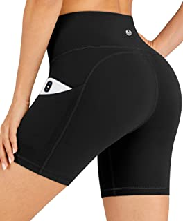 "IUGA Workout Shorts for Women with Pockets 8""/5"" Biker Shorts for Women High Waisted Yoga Shorts Compression Running Shorts"