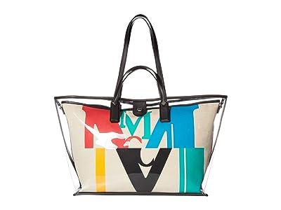 MCM M Logo Glitch Transparent Shopper Medium (Multi) Bags