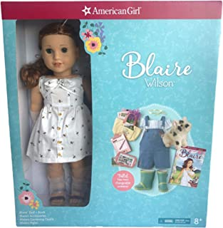 """American Girl 18"""" Blaire Doll and Book, & Accessories, Gardening Outfit and Piglet"""