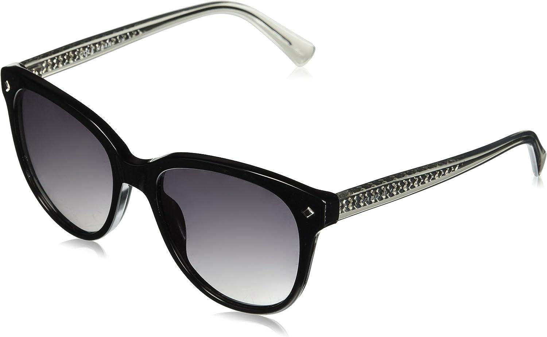 Cole Haan Women's Ch7043 Plastic Oval Sunglasses, 55 mm