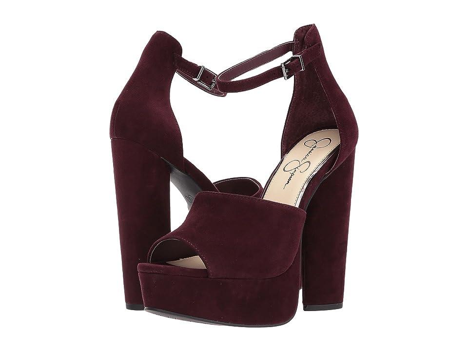 Jessica Simpson Elin (Rouge Noir Lux Kid Suede) High Heels