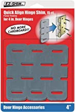 15inPack Reliable Quick Align Hinge Shim 4'' for 1/16 1/8 or 3/16'' Adjustment Quick Delivery