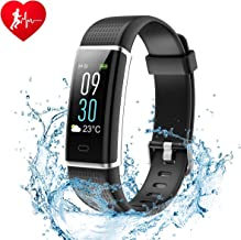 Ginsy Fitness Tracker, Smart Watch with Slim Color Touch Screen Activity Tracker Heart Rate Monitor IP67 Waterproof Bluetooth Pedometer Sleep Monitor for Android and iOS