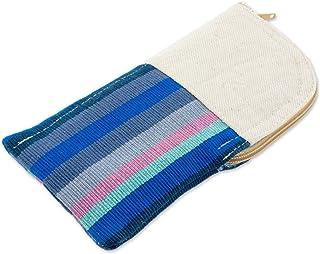 NOVICA Multicolor 100% Cotton Eyeglasses Case, Lake Stripes'