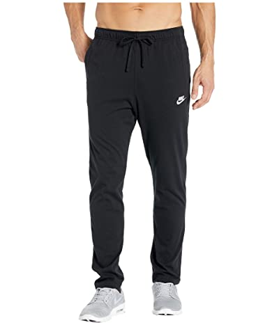Nike NSW Club Pants Open Hem Jersey (Black/White) Men