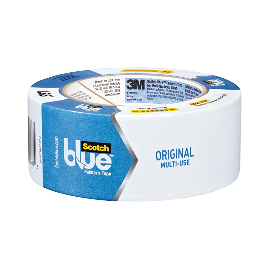 ScotchBlue Original Multi-Surface Painter's Tape,  1.88 inch x 60 yard, 2090, 3 Rolls
