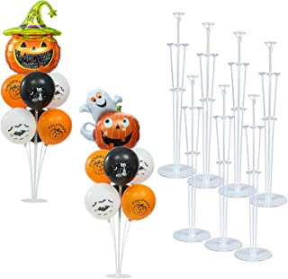 Balloon Stand Kit, 7 Pack Balloon Holder Kit Including 49 Sticks 49 Cups and 7 Base, Balloon Decoration for Party, Birthda...
