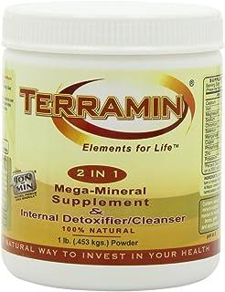 Ion Charged Terramin Mega-Mineral Supplement & Internal Detoxifier/Cleanser, 1-Pound Powder Jar