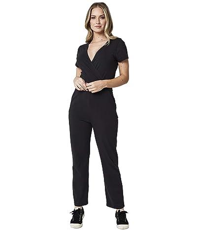 PACT Organic Cotton Wrap Jumpsuit (Black) Women