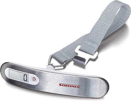 Soehnle Pèse-bagage électronique, pèse valise de voyage avec une portée de 50 kg, peson électronique de qualité facil...