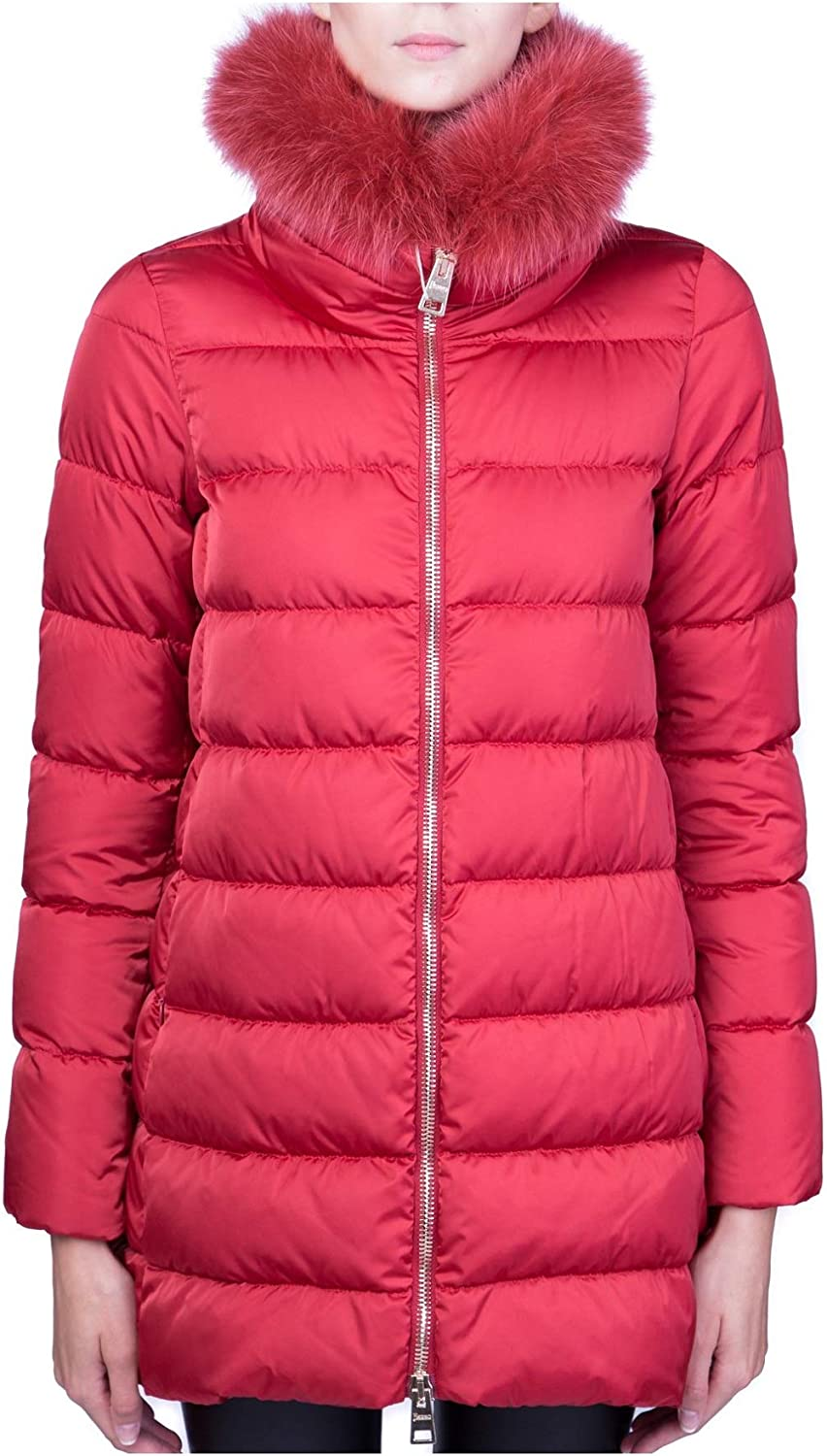 Herno  Quilted Jacket with Faux Fur Trim