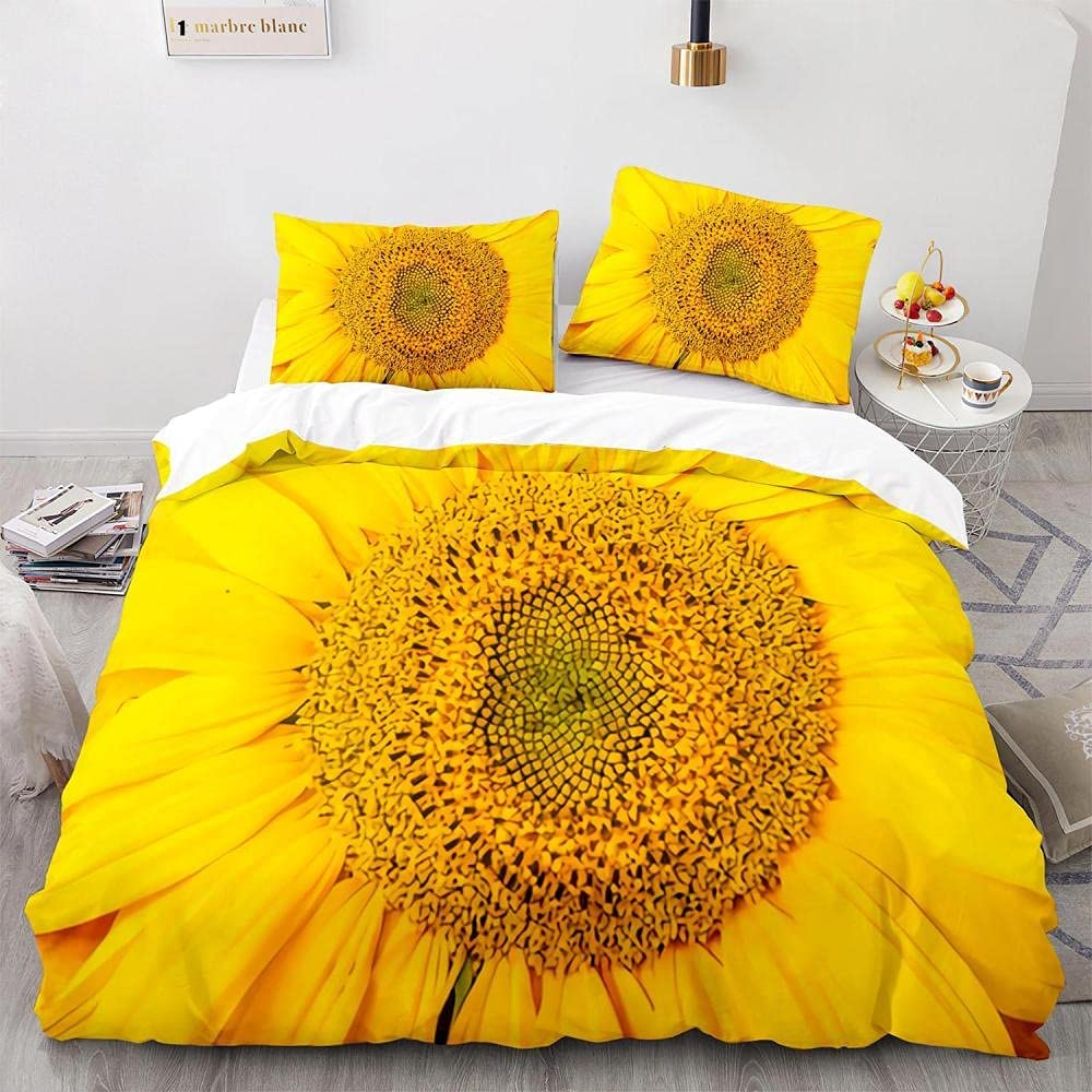 Twin Size Indianapolis Mall Minneapolis Mall Duvet Cover 2 Pieces Set - Sunflower Pattern 3D 110GS