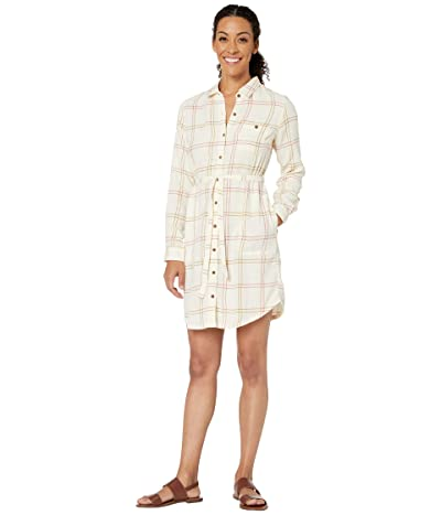 Toad&Co Re-Form Flannel Shirtdress (Egret) Women