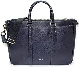Coach Perry Metropolitan Tote In Crossgrain Leather F59141 Laptop Bag Midnight
