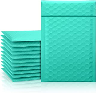 """Fuxury Fu Global 4x8"""" 50Pcs Poly Mailers Bubble Padded Set #000 for Lip Glosses, Colored Shipping Bubble Cushion Wrap Mail..."""