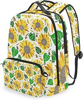 Mochila con bolsa cruzada desmontable, diseño de girasol, para viajes, senderismo, acampada