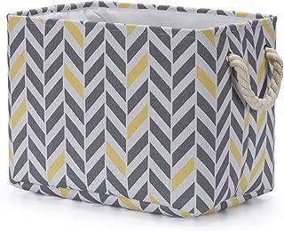 Every Deco Retangular Cotton with EVA Coating Fabric Metal Frame Structure Storage Bin Basket Sturdy Rope Handles Gift Clothes Toys New Borm Nursery - 14.56