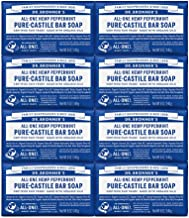 Dr. Bronner's Pure-Castile Bar Soap - Peppermint, 5 oz (8 Pack)