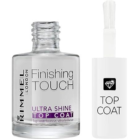 Rimmel London Top Coat Ultra Shine Finishing Touch ad Asciugatura Rapida per Smalto Unghie, Trasparente, 12 ml