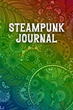 Steampunk Journal: Fantasy College Ruled Composition Diary | Blank Grimoire Lined Notebook | Vintage Victorian Rainbow Cover