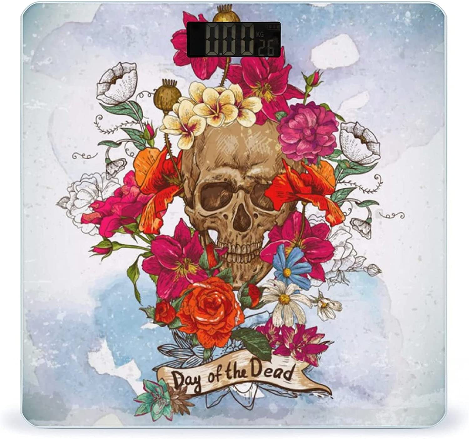 San Diego National products Mall Skull and Flowers Day of The Highly S Image Accurate Dead Vector