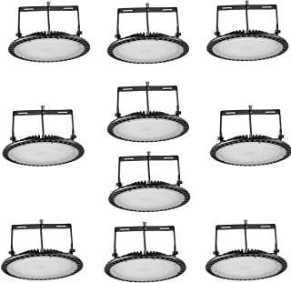 UFO LED Iluminación, 120 grados Lámpara Industrial Ultra Delgada,Lámpara Industrial de Blanco Frío 6000-6500K (300W, 10PCS)