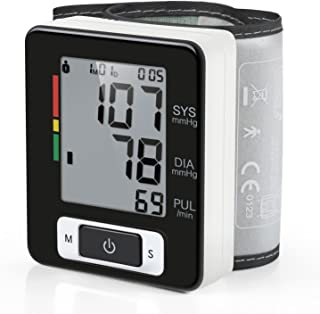Digital Blood Pressure Monitor Portable Case Irregular Heartbeat BP and Adjustable Wrist Cuff Perfect for Health Monitoring