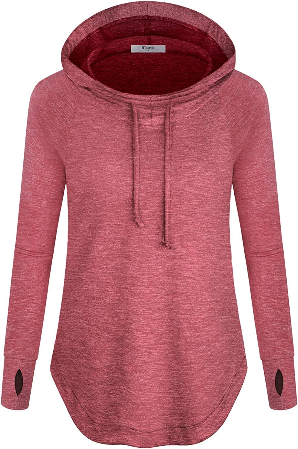 Cestyle Womens Pullover Long Max 66% OFF Sleeve Workout 55% OFF Yoga Hoodie wi Sport