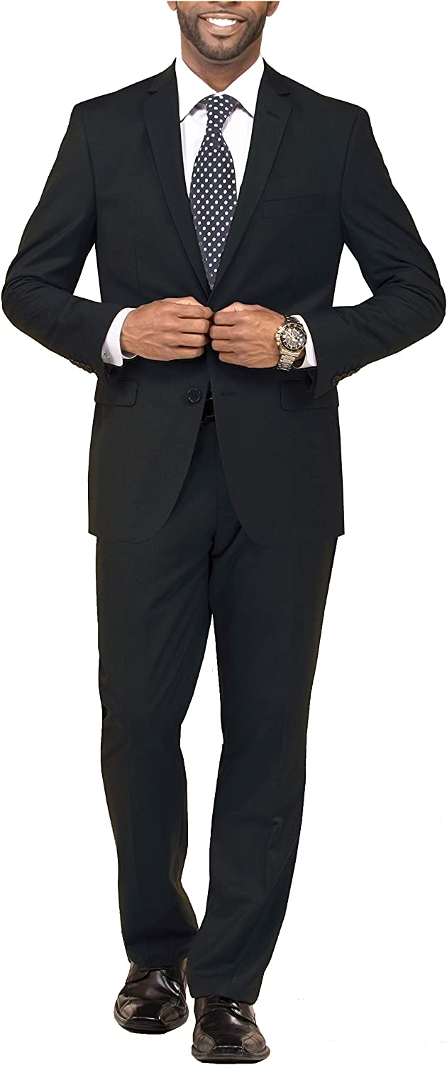 Mens 3 Piece Wedding Suit Jacket Vest Pants for Wedding and Formal Events Regular Classic Traditional Fit Big and Tall
