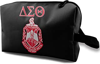Delta-Sigma-Theta Travelling Makeup Bag Toiletry Bag For Women Skincare Cosmetic Pouch
