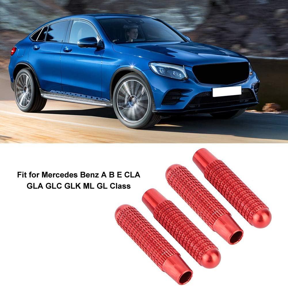 4 St/ück Autot/ür-Verriegelungsstift-Knopfabdeckung Passend f/ür Mercedes Benz A B E CLA GLA GLC GLK-Klasse Fictory Autot/ür-Verriegelungsknopf Silber