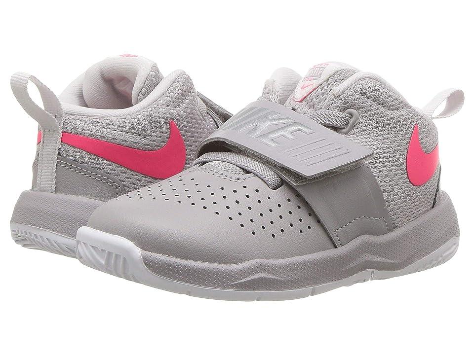 Nike Kids Team Hustle D8 (Infant/Toddler) (Atmosphere Grey/Racer Pink/Vast Grey) Girls Shoes