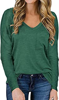 Long Sleeve Shirts for Women Fall Basic Tops Casual Loose...