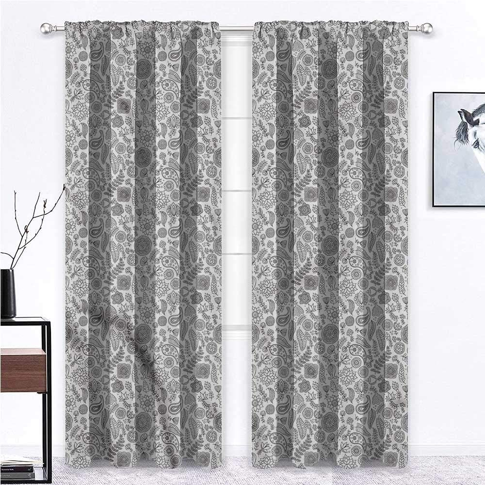 GugeABC Fresno Mall Kids Blackout Los Angeles Mall Curtains Black Room and White Window