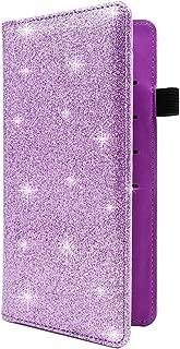 Checkbook Cover for Men & Women RFID Glitter Leather Check Book Holder Wallet