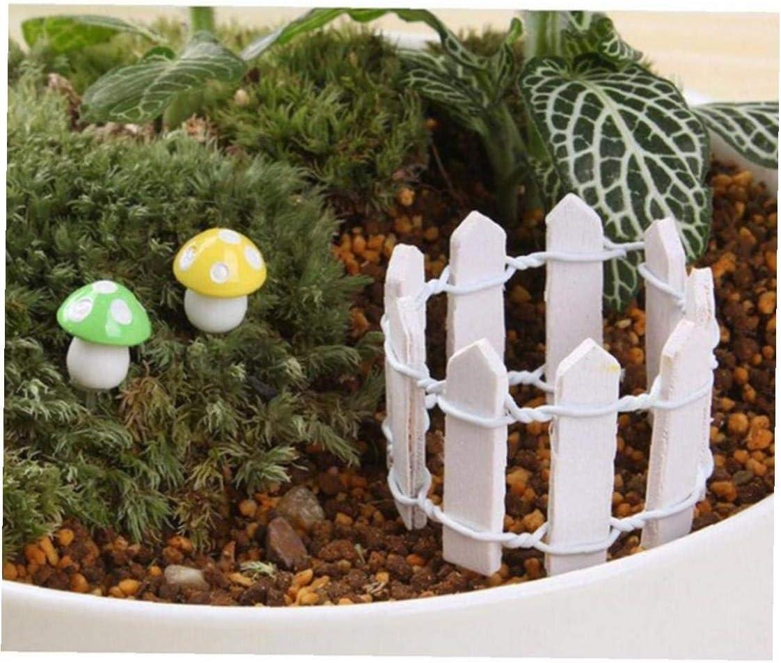 Fence Mini Legno in Miniatura Giardino Micro-Paesaggio Kit di Accessori Si Dirigono Il Giardino Decorazione Esterna Ornamenti delle Piante Vasi Decor Fai da Te