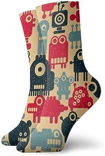 MayBlosom, Calcetines de tobillo casuales para hombre y mujer, diseño de búho sabio de dibujos animados extravagantes, coloridos y modernos calcetines de algodón de 30 cm