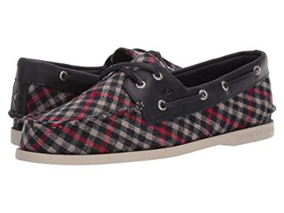 Sperry A/O 2-Eye Tailored (Navy/Red) Men
