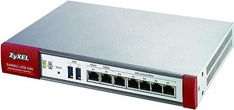 Zyxel ZyWALL USG100 Unified Security Gateway Firewall w/50 VPN Tunnels, SSL VPN, 7 Gigabit Ports, and High Availability
