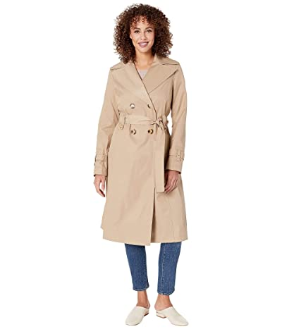Via Spiga Double Breasted Long Trench Belted (Sand) Women