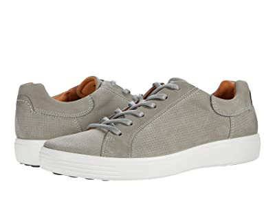 ECCO Soft 7 Street Perforated Sneaker (Wild Dove Nubuck Leather) Men
