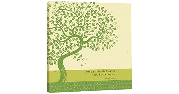 85590 11.25 x 11.25 Inches Tree-Free Greetings EcoArt Home Decor Wall Plaque Earth Tree Themed Inspiring Quote Art