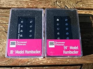 Seymour Duncan SH-4 JB Bridge & SH-1 59 Neck BLACK Humbucker Pickup Set