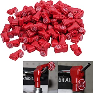VintageBee 60 PCS Peg Hook Stop Lock for Prevent The Sweep Theft of Displayed Products on A Wire Peg, Plastic Red 6mm Security Lock, Retail Shop Anti-Theft Display Slatwall and Pegboard Hook Lock