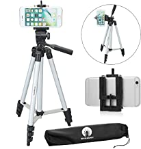 DIGIANT 50 Inch Aluminum Camera Phone Tripod+ Universal Tripod Smartphone Mount for Apple, iPhone Samsung and Other Brands...