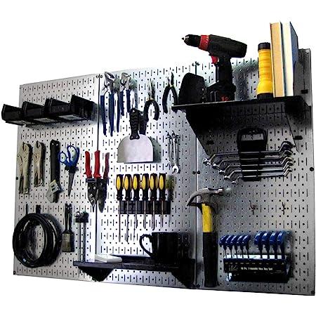 Wall-Mounted Metal Peg Board Tool Storage Unit for Pegboard Tiling Orange Pegboard Wall Control Modular Pegboard Tool Organizer System
