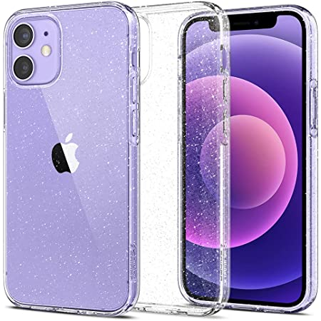 Spigen iPhone12 mini 用 ケース 5.4インチ MagSafe 対応 新型 TPU ソフトケース キラキラ ラメ入り 傷防止 レンズ保護 薄型 軽量 ワイヤレス充電 アイフォン12mini ケース リキッド・クリスタル ACS01741 (グリッター・クリスタル・クオーツ)