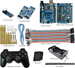 UNO Starter Kit for Arduino Project with PS2 Controller, UNO Board, Motor Drive Shield Board, Tracking Module