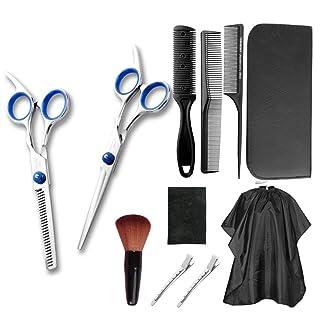 Agility Hair Cutting Scissors Set 11 PCS Barber Scissors Kit Barber Shears Professional Hair Cutting Shears Thinning Shear...